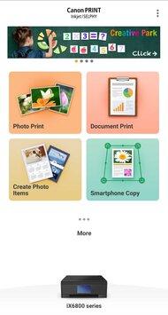 Canon PIXMA iX6820 App Printscreen