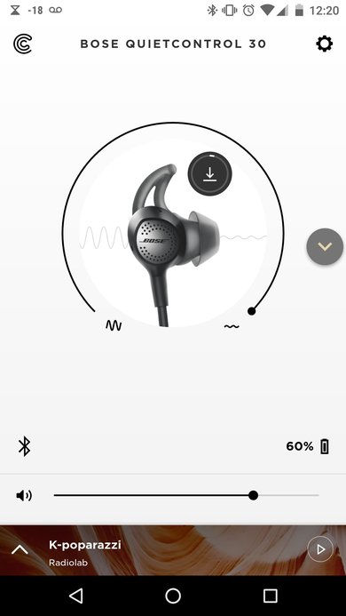 Bose QuietControl 30 App Picture