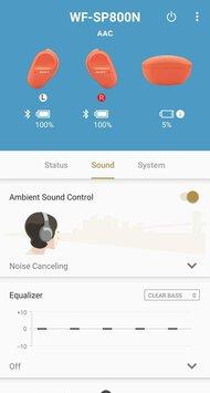 Sony WF-SP800N Truly Wireless App Picture