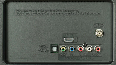 LG LF5600 Rear Inputs Picture