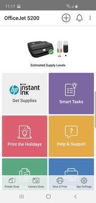 HP OfficeJet 5255 App Printscreen