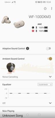Sony WF-1000XM3 Truly Wireless  App Picture