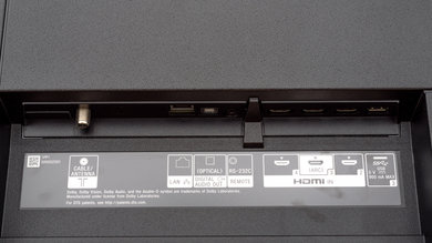 Sony A8G OLED Rear Inputs Picture