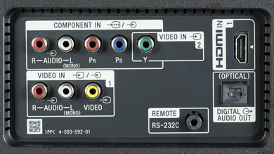 Sony X850D Rear Inputs Picture