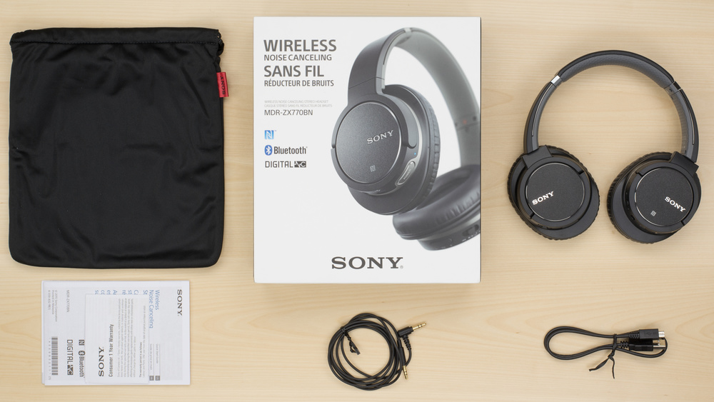 Sony MDR-ZX770BN In the box Picture