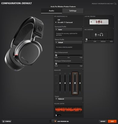 SteelSeries Arctis Pro Wireless App Picture