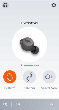 JBL LIVE 300TWS Truly Wireless App Picture