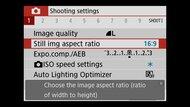 Canon EOS M50 Mark II Screen Menu Picture