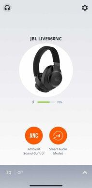 JBL Live 660NC Wireless App Picture