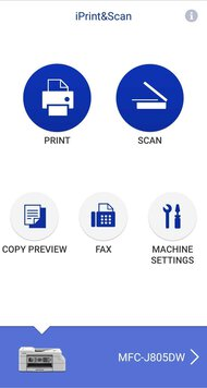Brother MFC-J805DW INKvestment Tank App Printscreen