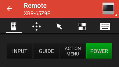 Sony Z9D Remote App Picture