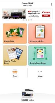 Canon MAXIFY GX6020 App Printscreen