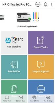 HP OfficeJet Pro 9015 App Printscreen