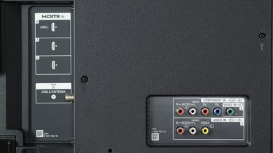 Sony X930D Rear Inputs Picture