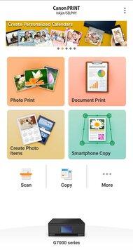 Canon PIXMA G7020 App Printscreen