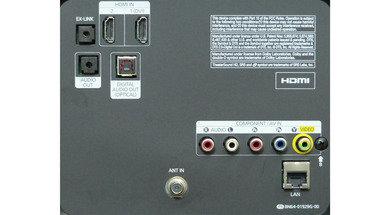Samsung FH6030 Rear inputs
