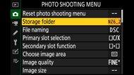 Nikon Z 6II Screen Menu Picture