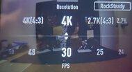 DJI Osmo Action Screen Menu Picture