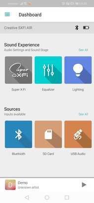 Creative SXFI Air Wireless App Picture
