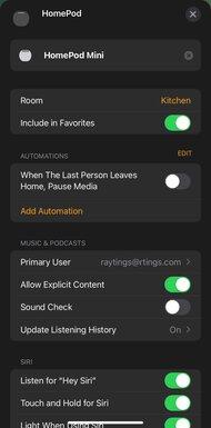 Apple HomePod mini App Picture