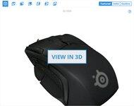 SteelSeries Rival 500 3D Model