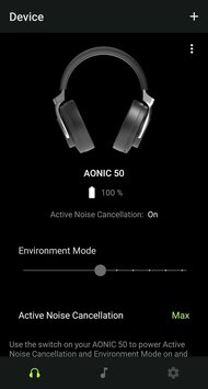 Shure AONIC 50 Wireless App Picture