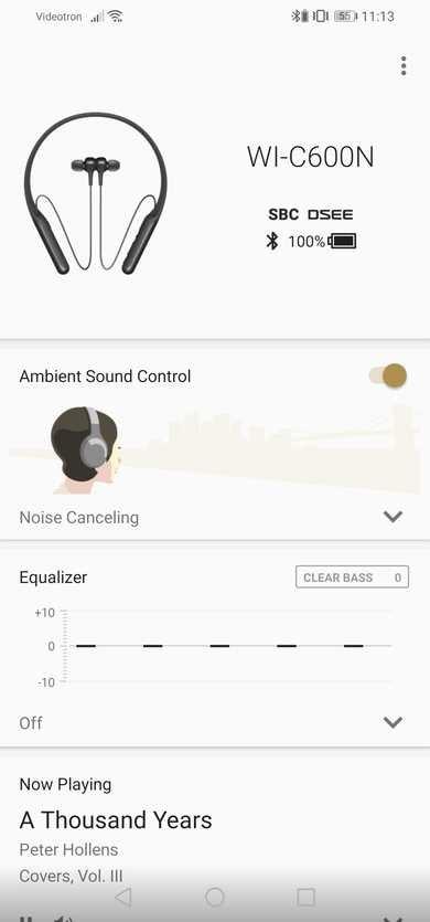 Sony WI-C600N Wireless App Picture