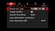 Canon EOS 6D Mark II Screen Menu Picture