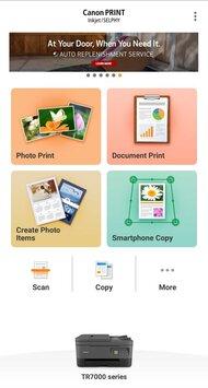 Canon PIXMA TR7020 App Printscreen