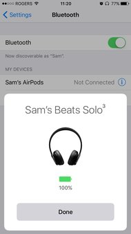 Beats Solo3 Wireless App Picture