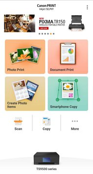 Canon PIXMA TS9520 App Printscreen