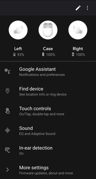 Google Pixel Buds A-Series Truly Wireless App Picture
