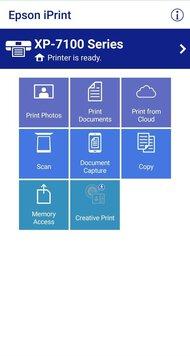 Epson Expression Premium XP-7100 App Printscreen