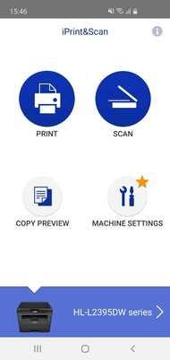 Brother HL-L2395DW Laser App Printscreen
