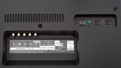 Sony X800G Rear Inputs Picture