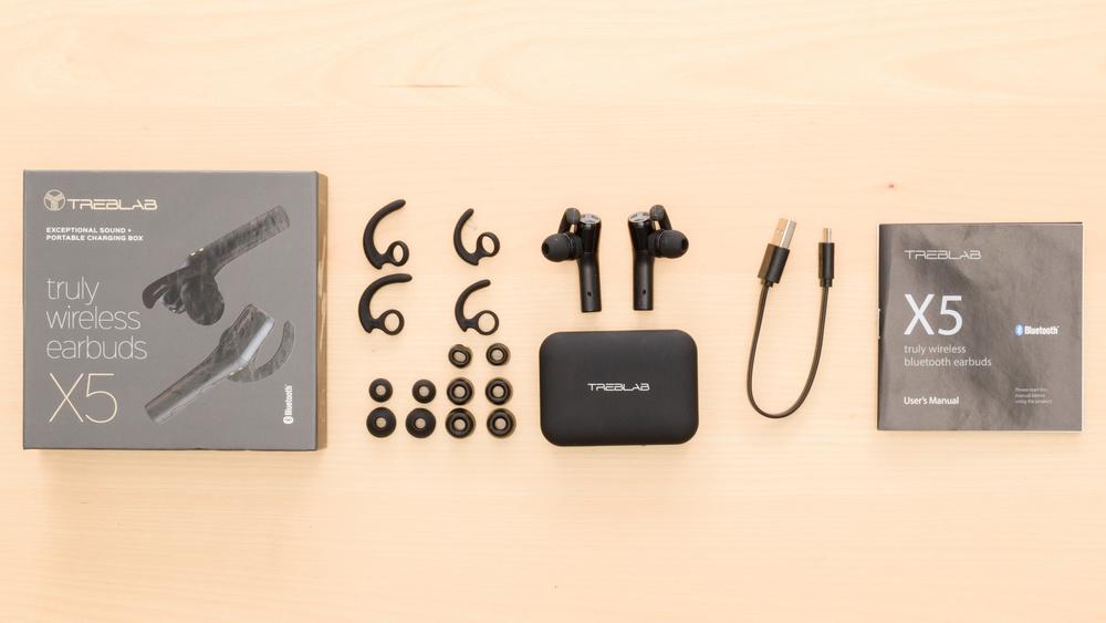 TREBLAB X5 Truly Wireless In the box Picture