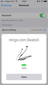 Beats BeatsX Wireless App Picture