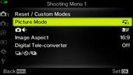 Olympus OM-D E-M5 Mark III Screen Menu Picture