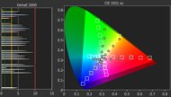 Sony X850G Color Gamut DCI-P3 Picture