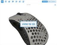 Pwnage Ultra Custom Wireless Ergo 3D Model