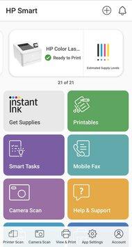 HP Color LaserJet Pro M454dw App Printscreen