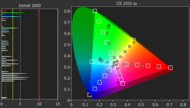 Sony A8G OLED Color Gamut Rec.2020 Picture