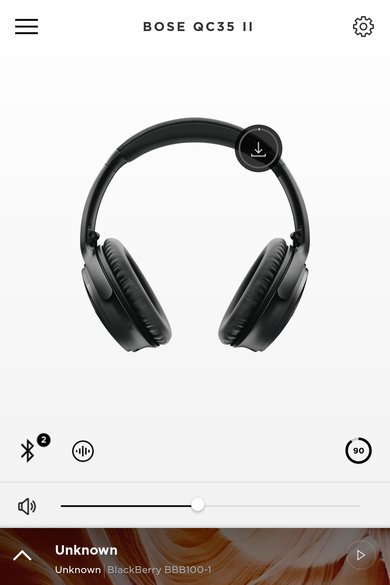 Bose QuietComfort 35 II/QC35 II Wireless 2018 App Picture