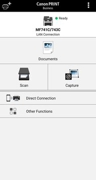 Canon imageCLASS MF743Cdw App Printscreen