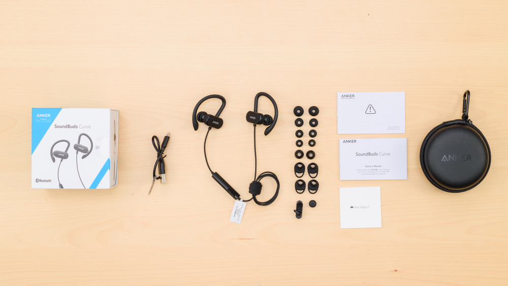 Anker SoundBuds Curve Wireless In the box Picture