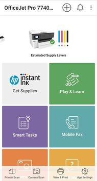 HP OfficeJet Pro 7740 App Printscreen