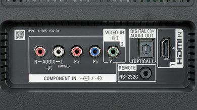 Sony X750D Rear Inputs Picture
