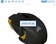 Corsair Scimitar Pro RGB 3D Model
