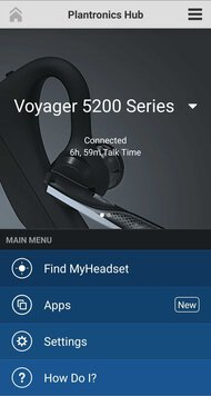 Plantronics Voyager 5200 Bluetooth Headset App Picture