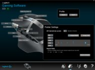 Logitech G602 Software settings screenshot